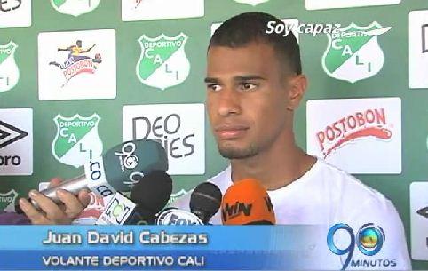 Juan David Cabezas, el volante goleador del Deportivo Cali