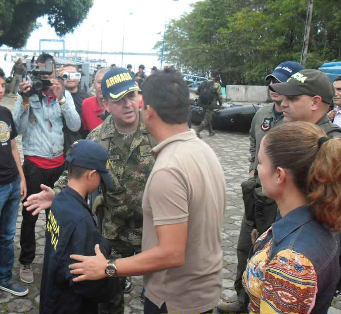Armada rescata niño de 10 años secuestrado en Tumaco