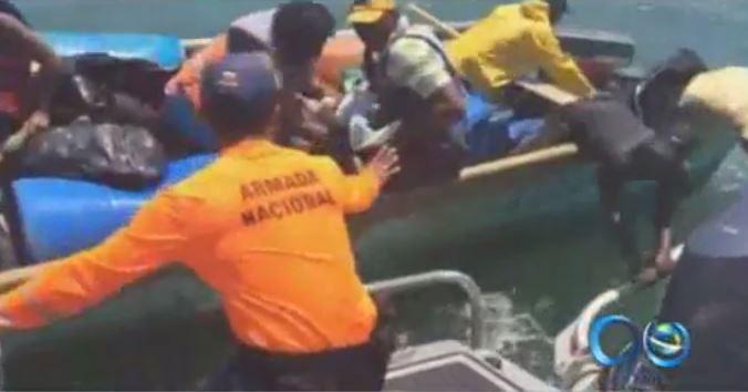 Náufragos fueron rescatados por guardacostas de Tumaco