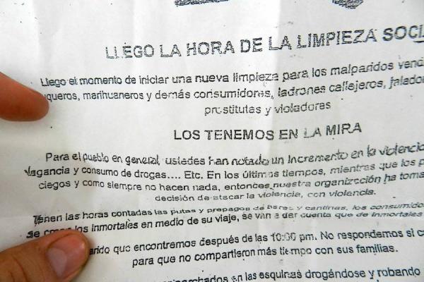 Alerta en centro del Valle por panfletos amenazantes