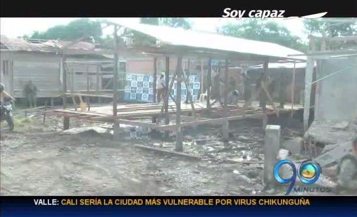 Reconstruyen casas a damnificados por explosión en Tumaco