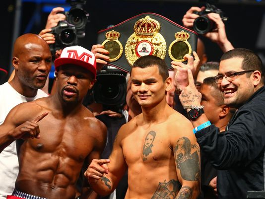 Todo listo para la revancha entre los boxeadores Mayweather y Maidana