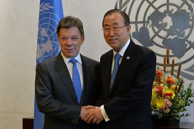 El posconflicto, tema central entre Santos y el secretario general de la ONU