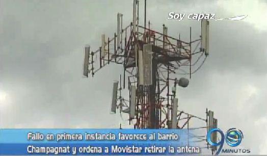 Habitantes del barrio Champagnat protestan por antena de celular