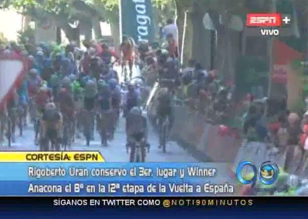 No se presentaron cambios en la etapa 12 de la Vuelta España