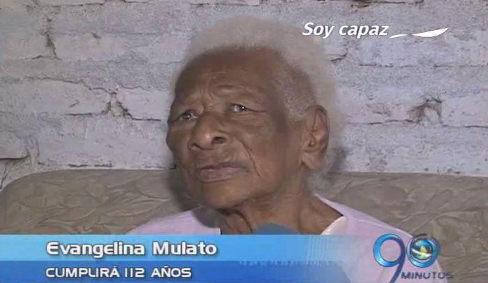 Doña Evangelina Mulato, todo un ejemplo de longevidad
