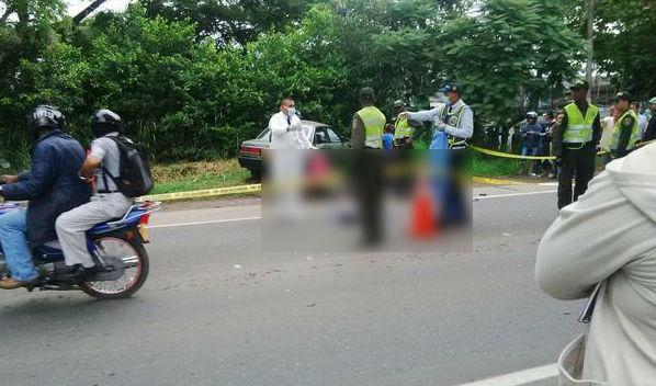 Accidente en la vía Cali-Candelaria deja dos muertos