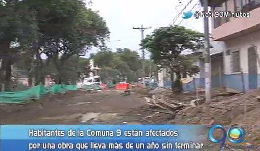 Obra de acueducto sin concluir perjudica a los habitantes de la Comuna 9