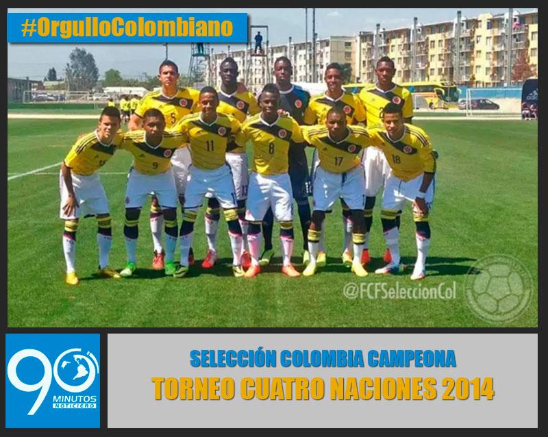 Colombia, campeona del Torneo Cuatro Naciones de Sub 20