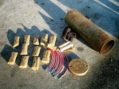Decomisan material explosivo en parque principal de Timba