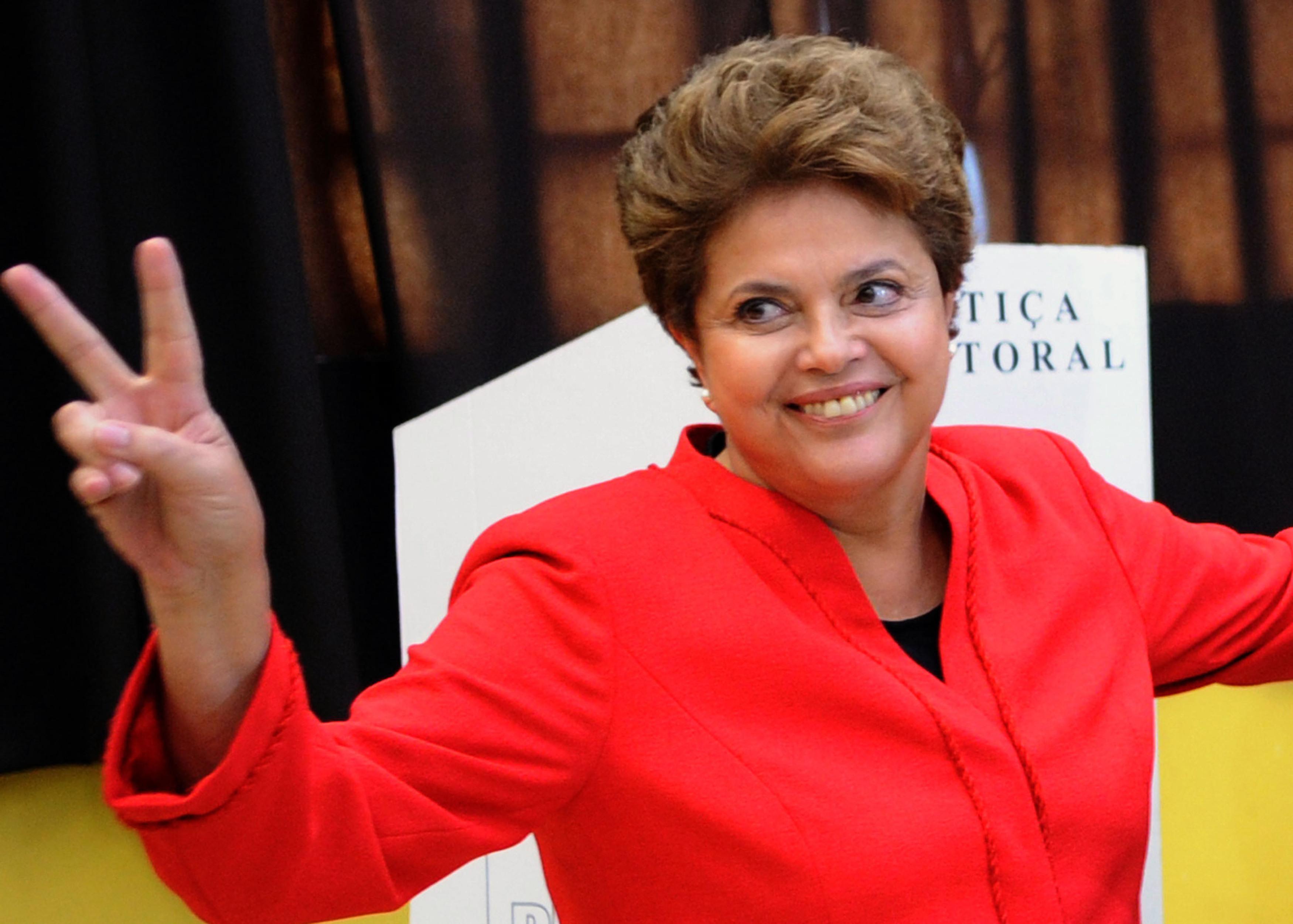 Dilma Rousseff, presidenta de Brasil, seguirá en el poder hasta el 2019.