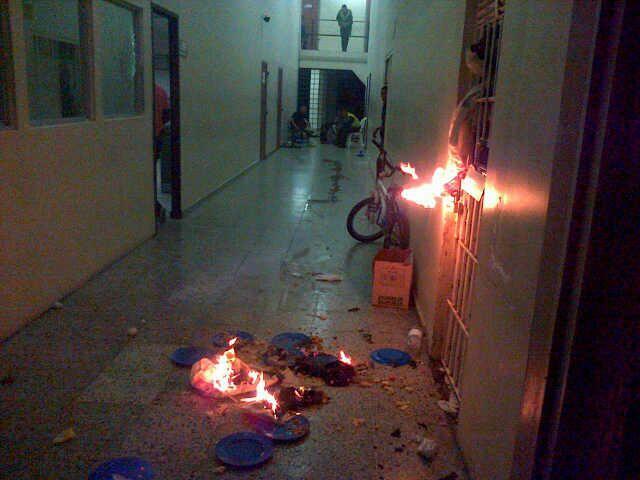 Disturbios en centro de reclusión de adolescentes