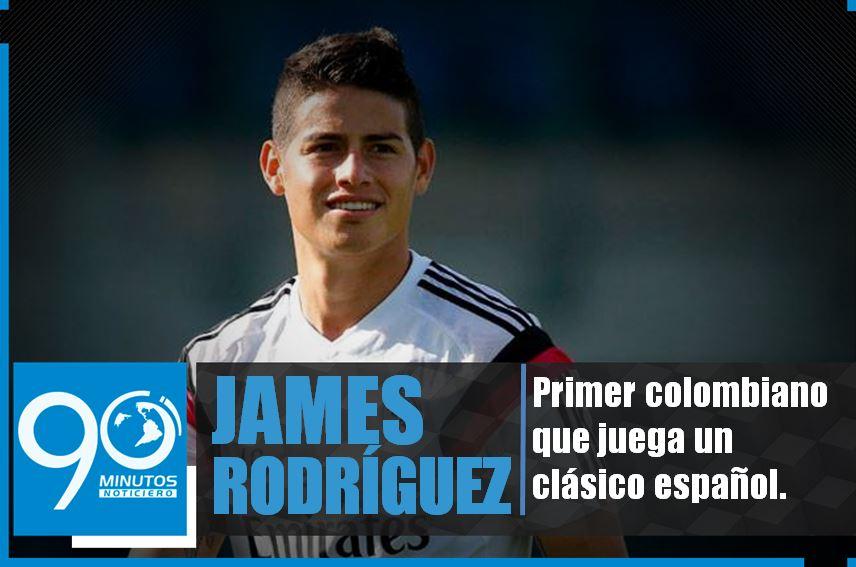 James es el primer colombiano que juega un clásico español