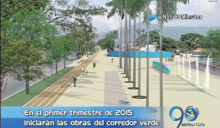 Obras del corredor verde de Cali iniciarán en primer trimestre del 2015