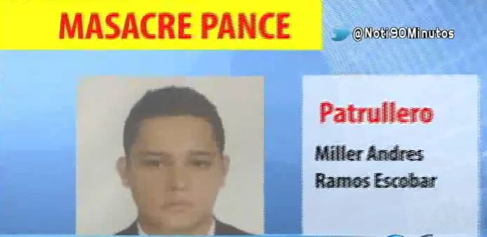 Patrullero vinculado con la masacre de Pance se entregó a las autoridades