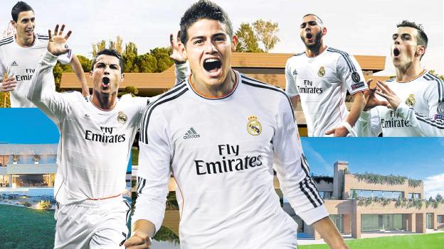 Sensacional pasegol de James Rodríguez en victoria del Real Madrid