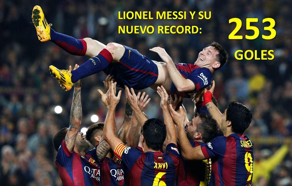 Estos son los 253 goles con los que Messi rompió récord en España