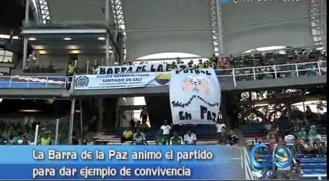 La Barra de la Paz debutó en el estadio Pascual Guerrero