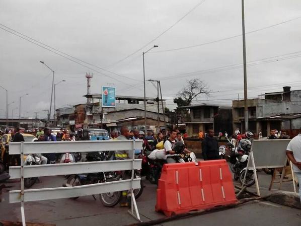 En Buenaventura se presentaron bloqueos por falta de agua