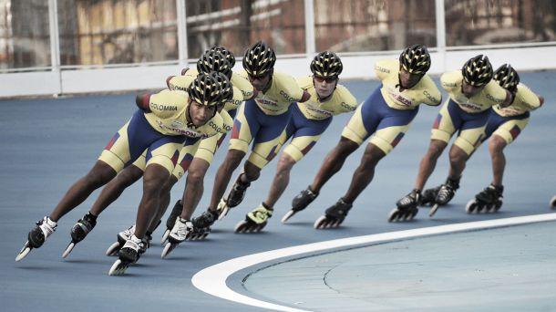 Colombia consiguió seis medallas en la primera jornada de ruta en Patinaje