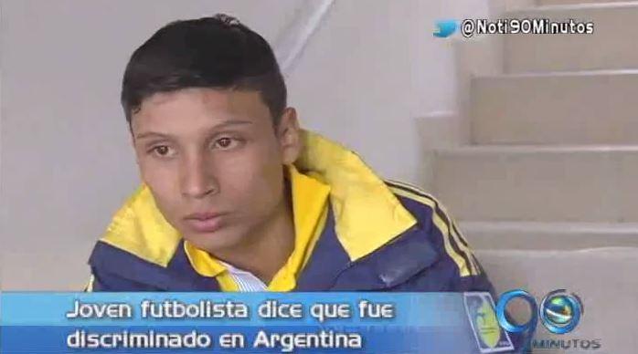 Futbolista caleño deportado de Argentina llegó a su ciudad natal