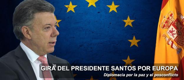Santos está en Bélgica para hablar con el Parlamento Europeo