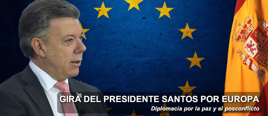 Así será la gira del Presidente Santos por Europa
