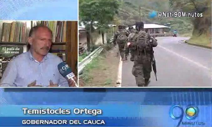 Gobernador del Cauca se refiere a la situación de orden público