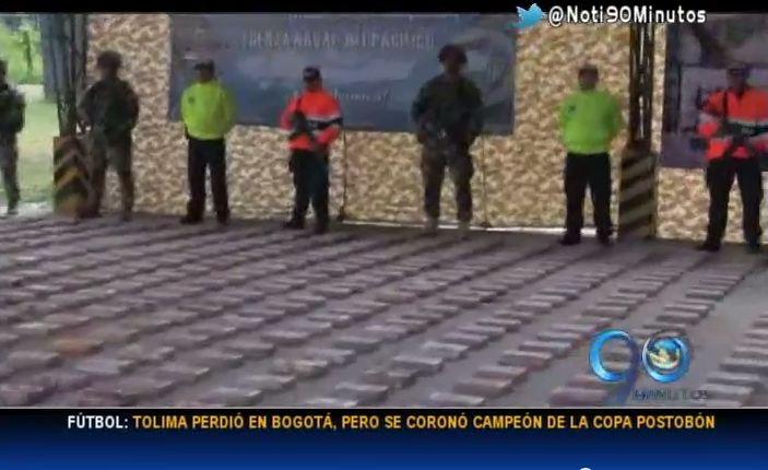 Armada incautó en el Chocó cargamento de cocaína de las Farc