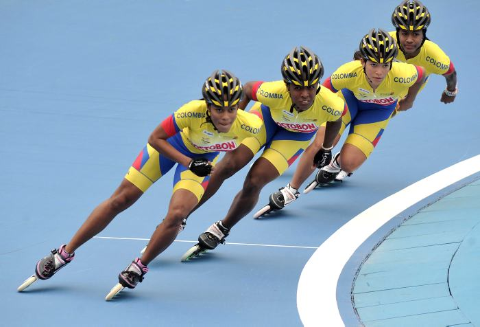 Colombia lidera Mundial de Patinaje pese a fuertes lluvias