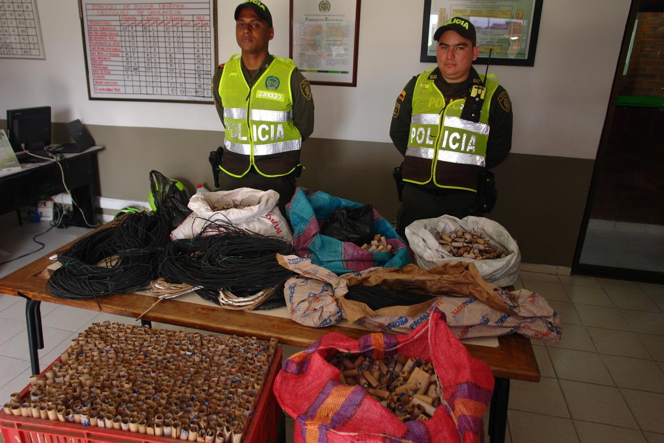 Policía incautó pólvora avaluada en cuatro millones de pesos en Cali
