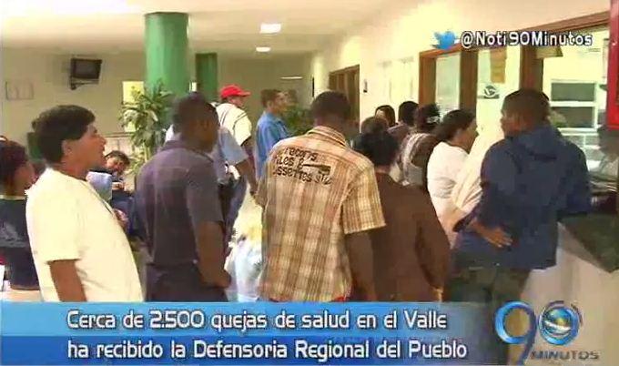 Valle ocupa el segundo lugar en el país en quejas contra la salud