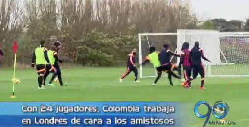 Selección Colombia entrena en Londres con 24 jugadores