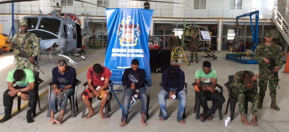 Siete integrantes de bandas criminales se entregaron a la justicia en Chocó