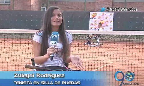 Deportistas se preparan para la Copa de Tenis en Silla de Ruedas