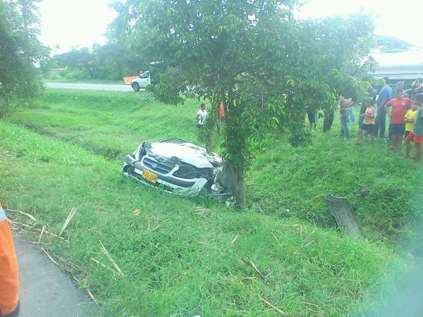 Fatal accidente en la vía que de El Cerrito conduce a Guacarí