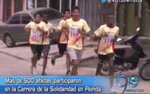 En Florida, Valle, se realizó la Carrera de Solidaridad por la Paz