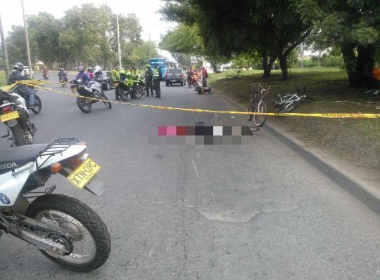 Muere ciclista atropellado en la Avenida Simón Bolívar