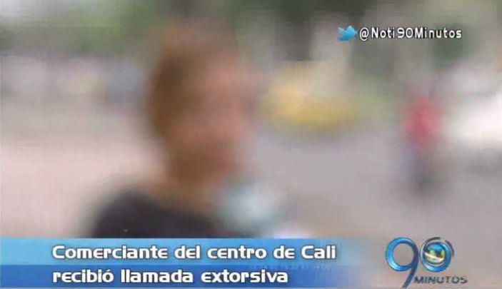 Comerciante del centro de Cali denuncia llamada extorsiva