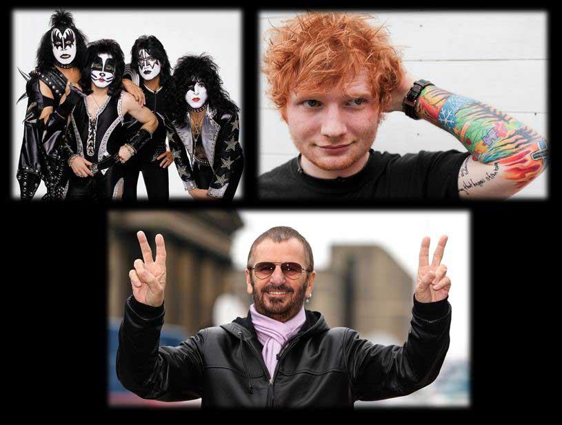 Disponibles boletas para Ringo Starr, Kiss y Ed Sheeran