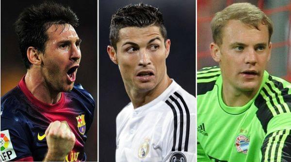 Cristiano, Messi y Neuer disputarán el balón de oro en el 2014