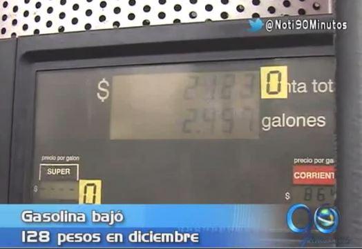 Galón de gasolina corriente bajó 128 pesos a nivel nacional