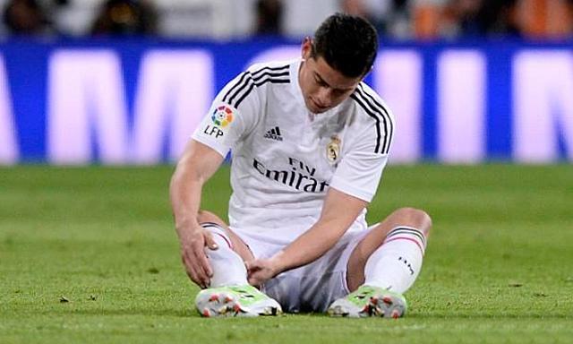 Real Madrid entregó el parte médico de la lesión de James Rodríguez