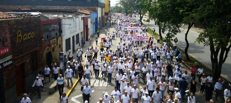 Caleños marcharon para exigir 'Paz sin impunidad'