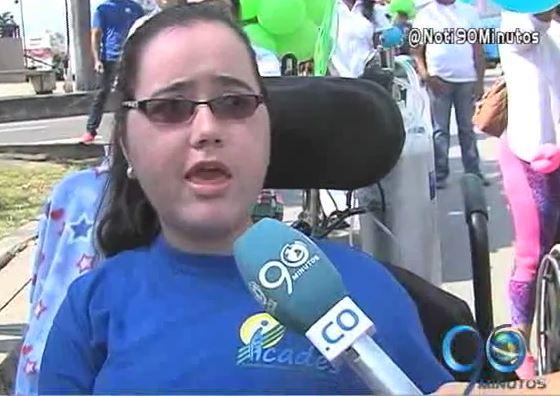 Discapacitados marcharon para pedir más compromiso con sus derechos