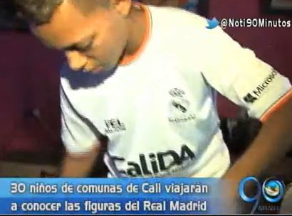 Niños de comunas de Cali compartirán con jugadores del Real Madrid