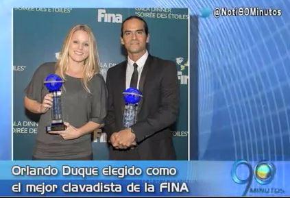 Orlando Duque fue escogido como el mejor clavadista de la FINA