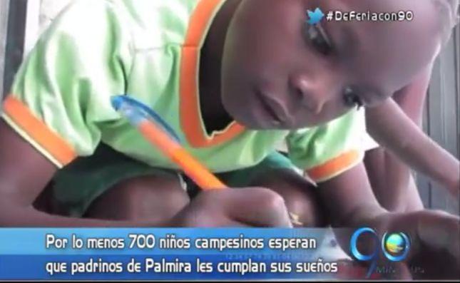 Palmira busca padrinos para cumplir los sueños de 700 niños