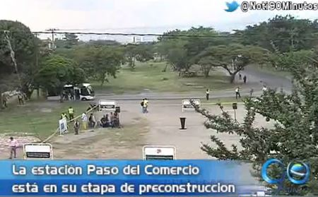 Iniciaron obras de la terminal Paso del Comercio del MÍO