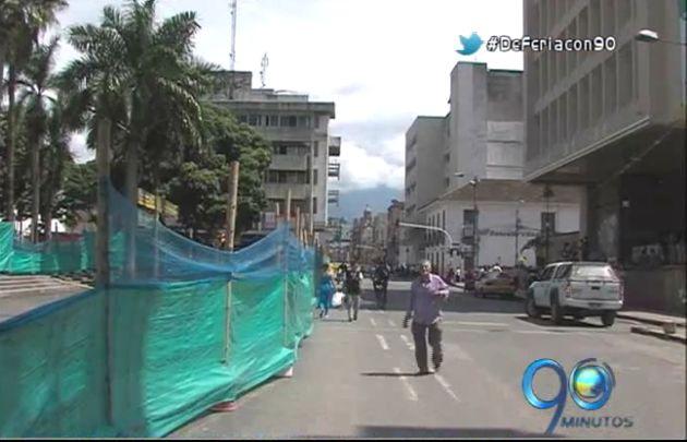 Suspenden trabajos de peatonalización en Palmira para no afectar ventas navideñas